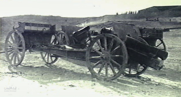 TURKISH GUNS CAPTURED AT AMMAN